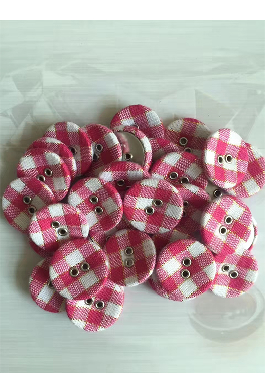 fabric covered 2 hole button