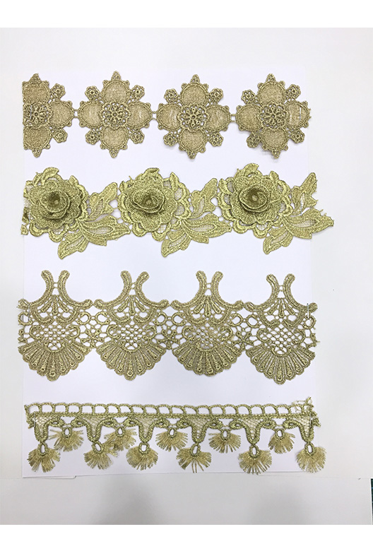 lace with gold lurex